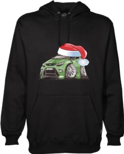 XMAS KOOLART SANTA HAT CHRISTMAS Design For Green For Focus RS Turbo Hoodie Hooded Top